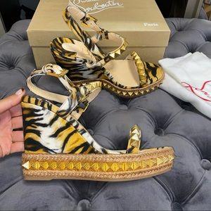New Size 38 Christian Louboutin Pyraclou Sandals